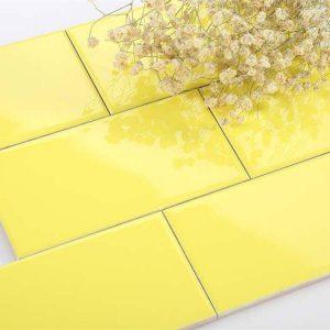 Gạch thẻ trang trí nhập khẩu 20 – Vàng chanh