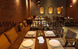 Công trình gạch thẻ ốp tường trang trí nhà hàng 187 Nguyễn Tuân
