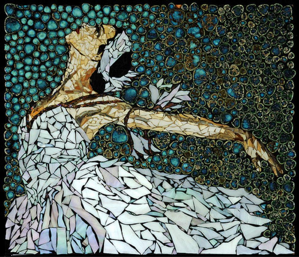Gạch mosaics làm tranh ghép