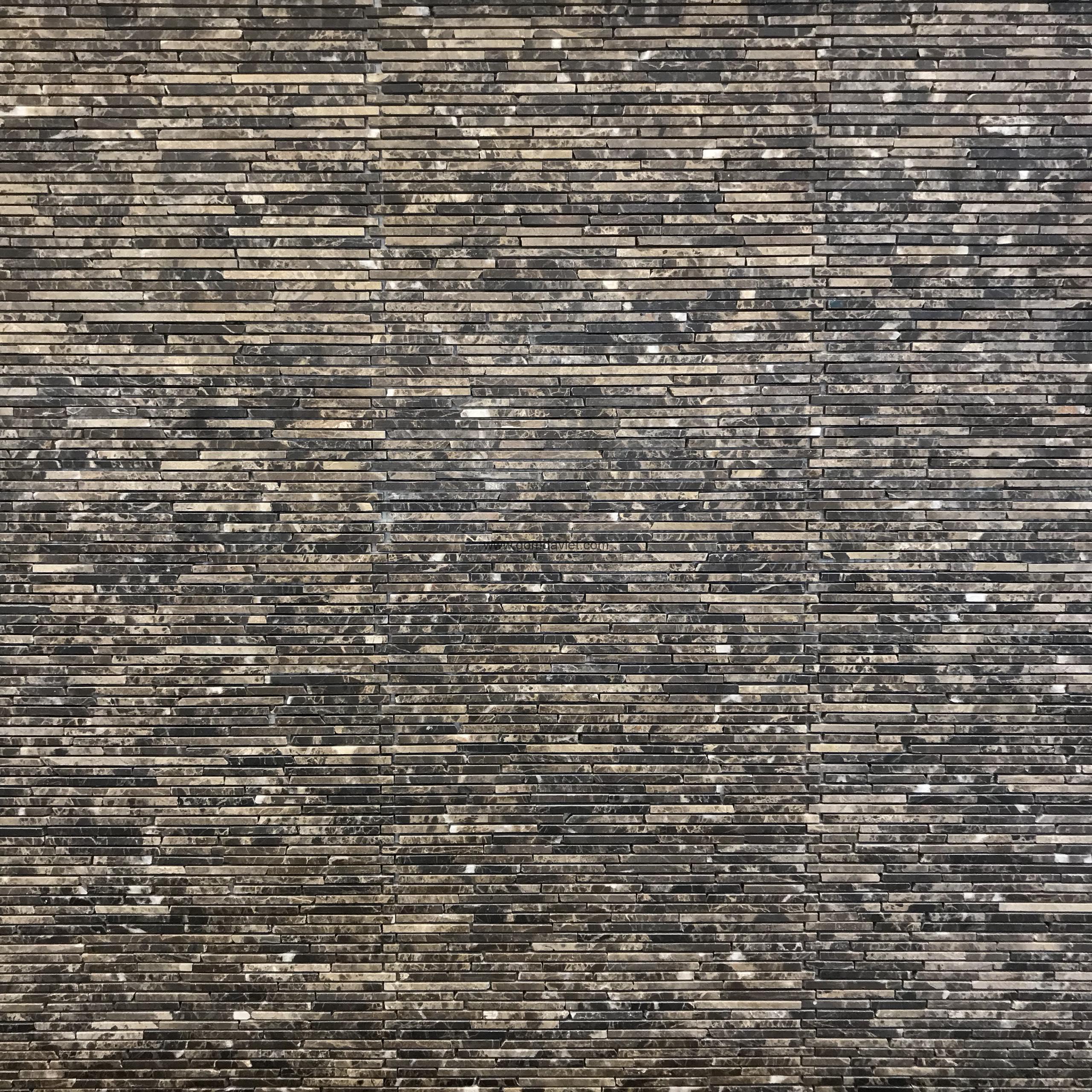 Mosaic đá chữ nhật 1.3