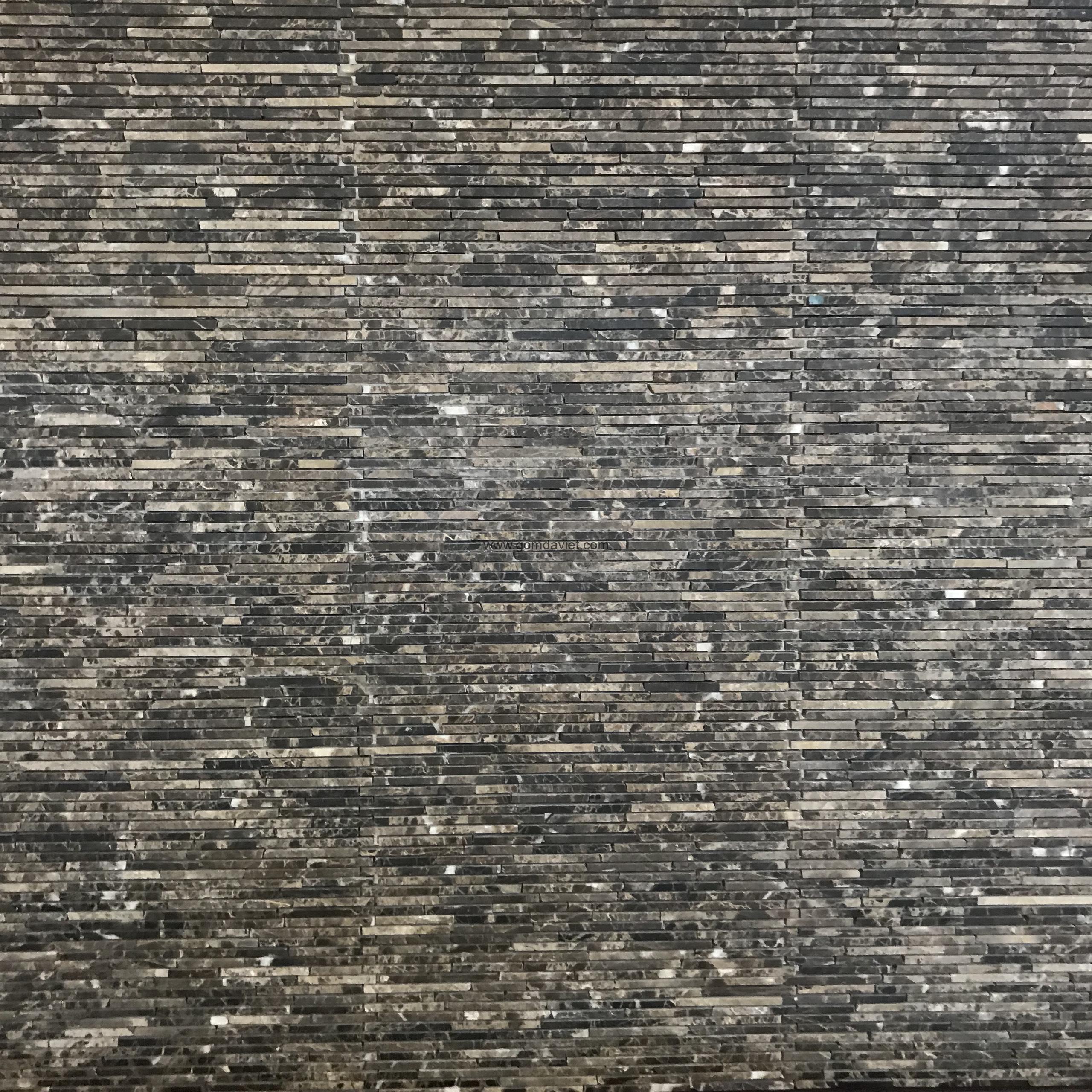 Mosaic đá chữ nhật 1.5