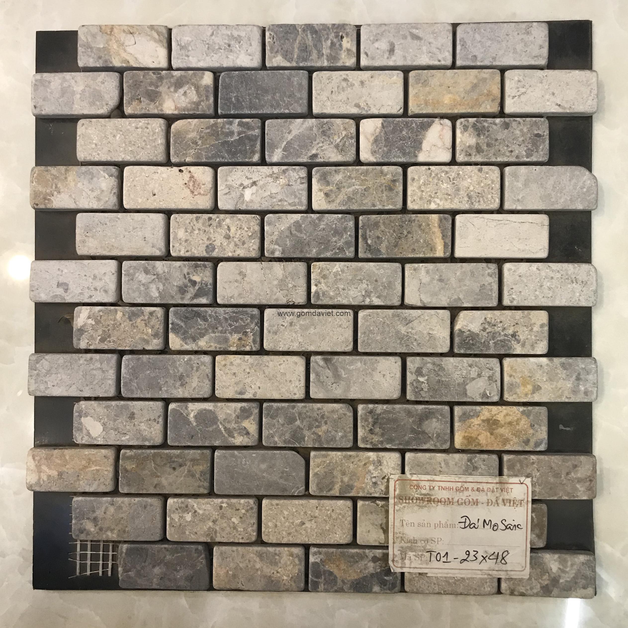 Mosaic đá chữ nhật 15