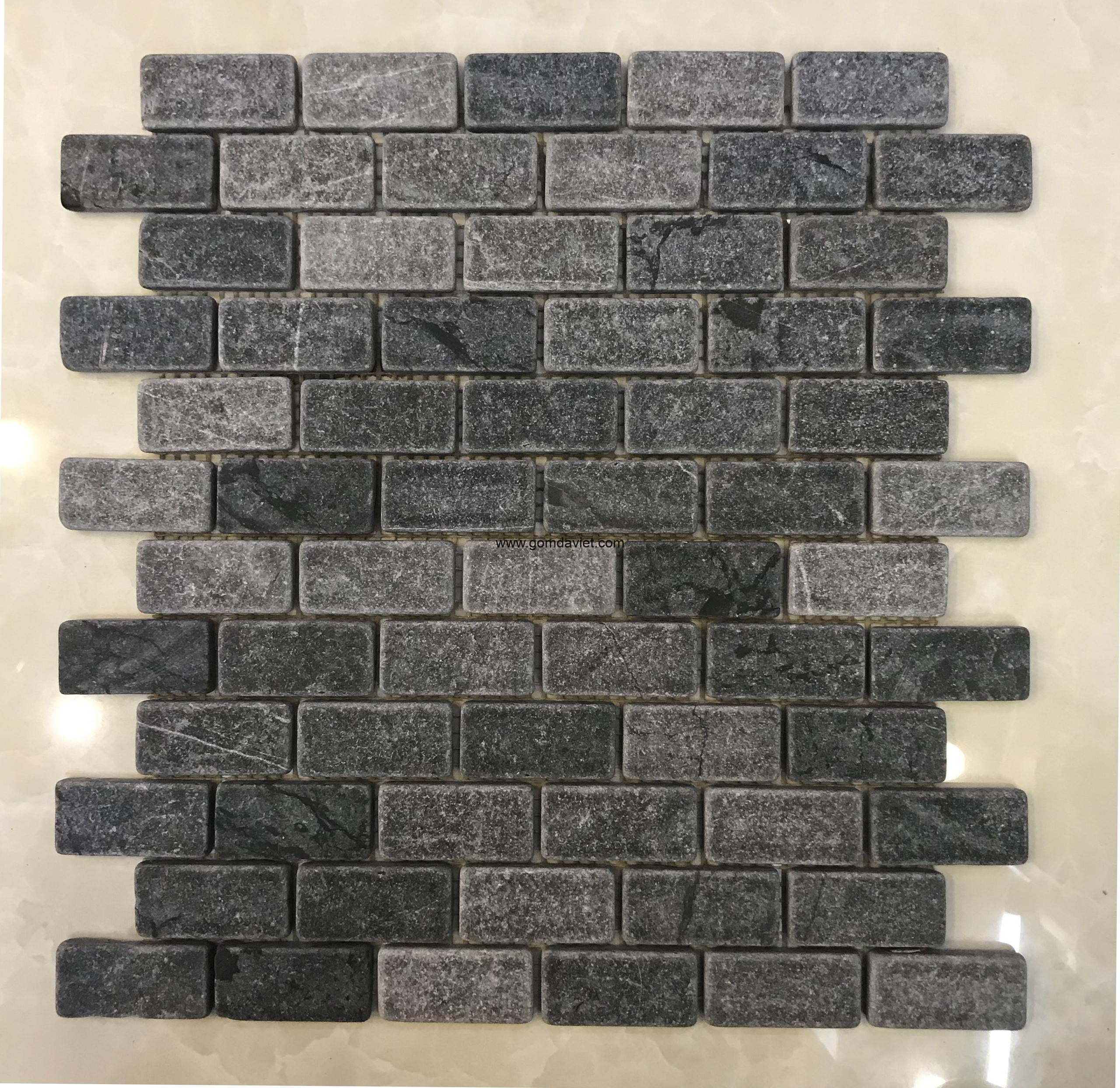 Mosaic đá chữ nhật 17