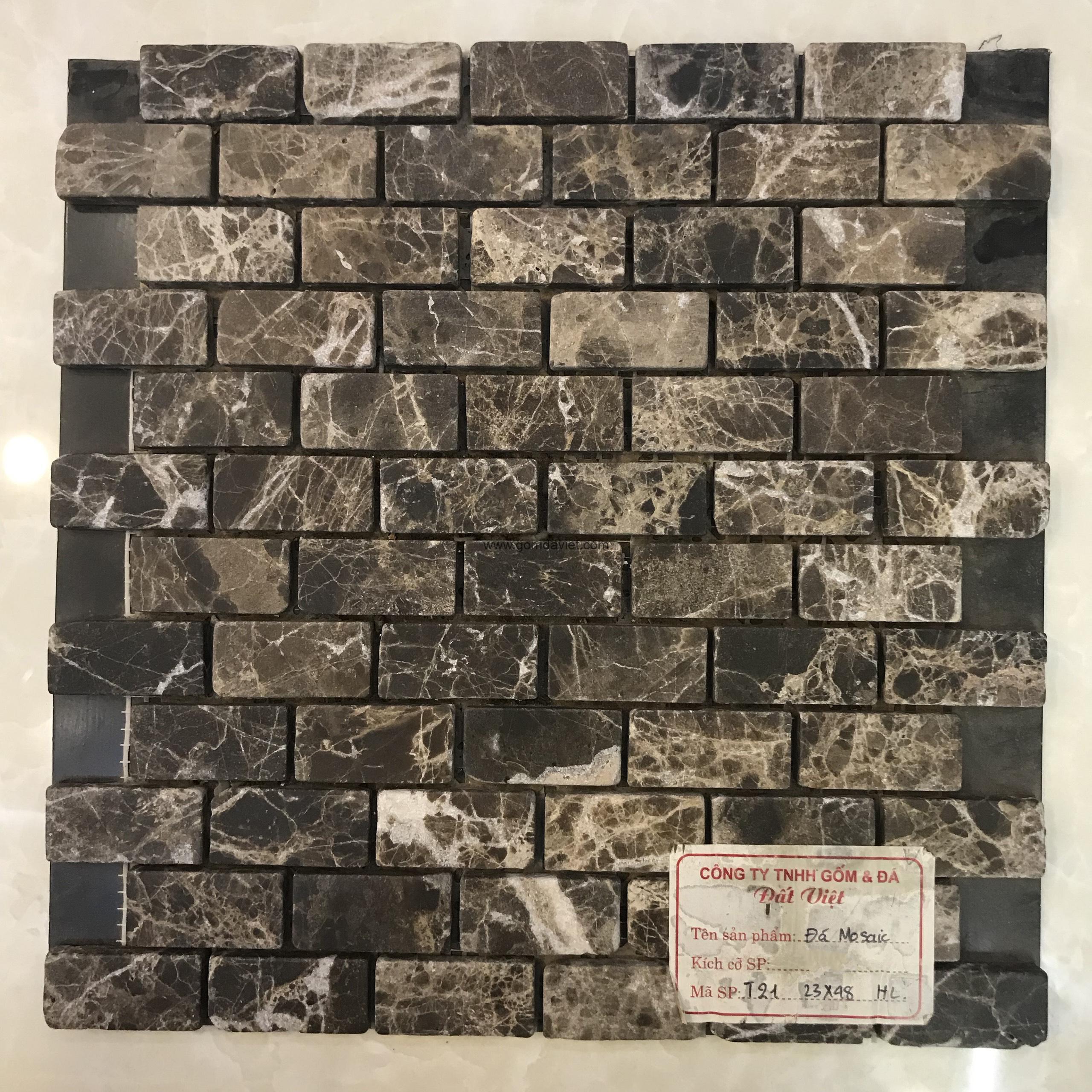 Mosaic đá chữ nhật 18