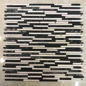 Mosaic đá chữ nhật 02
