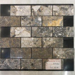 Mosaic đá chữ nhật 20