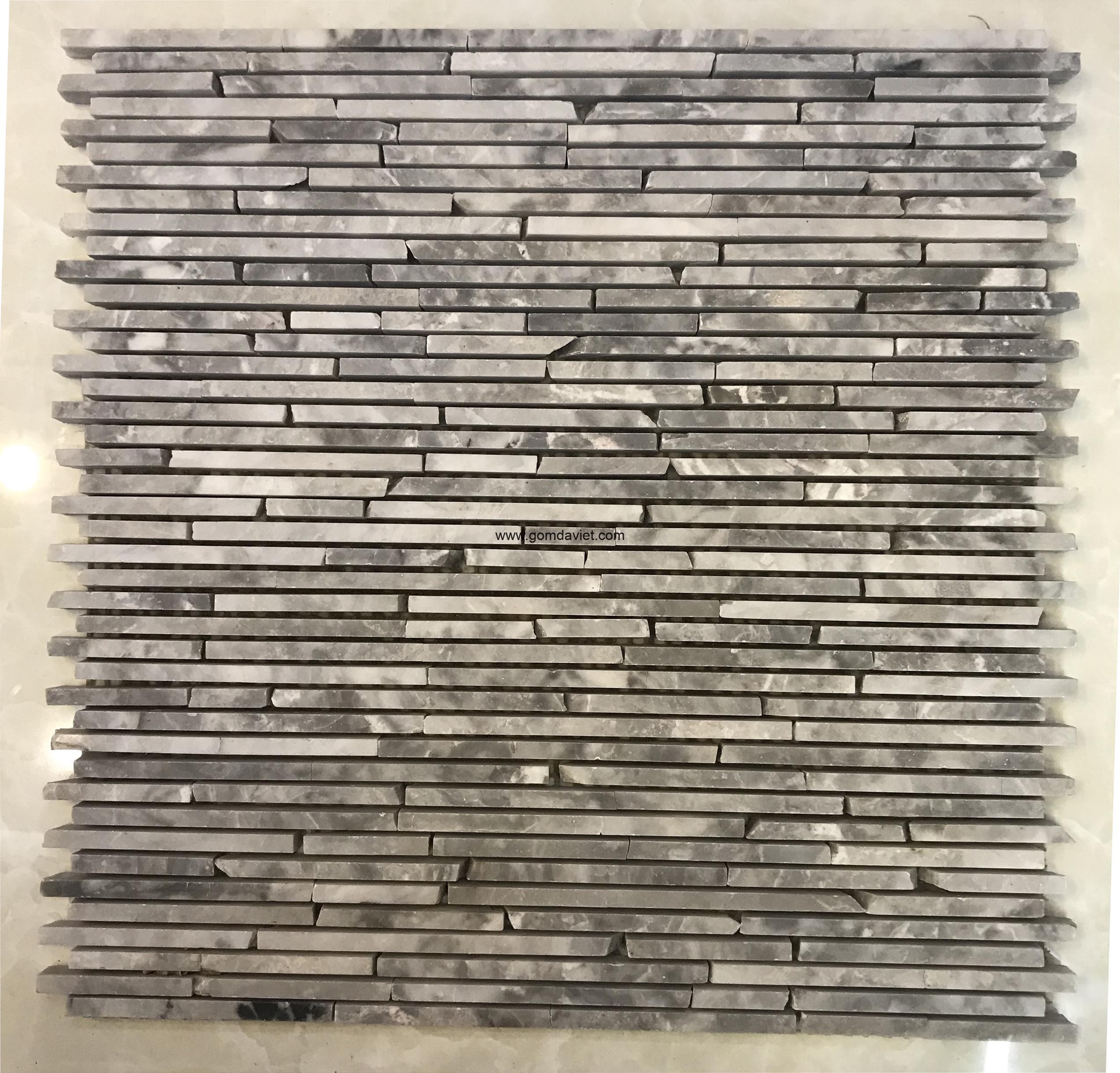 Mosaic đá chữ nhật 3