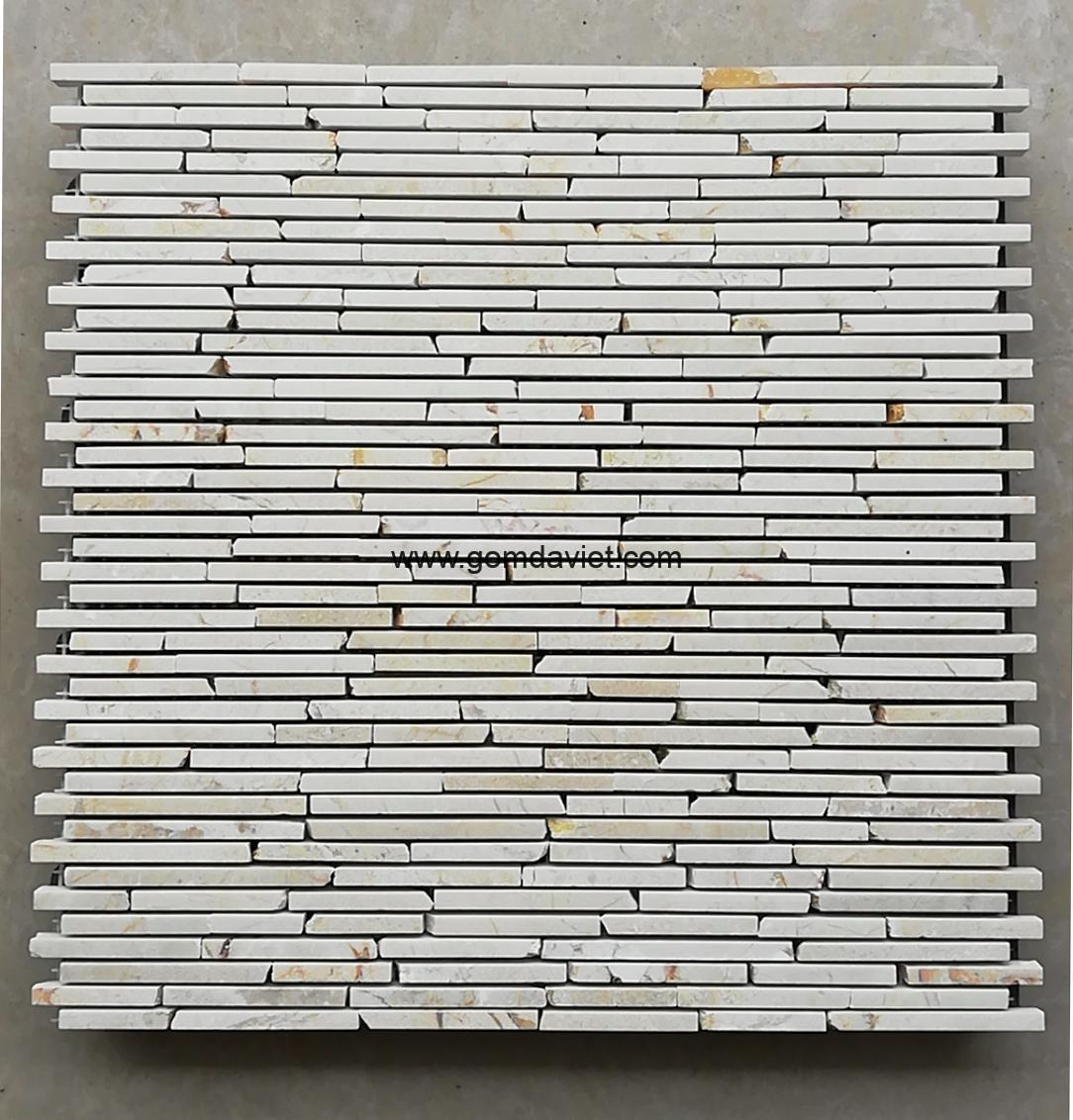 Mosaic đá chữ nhật 4
