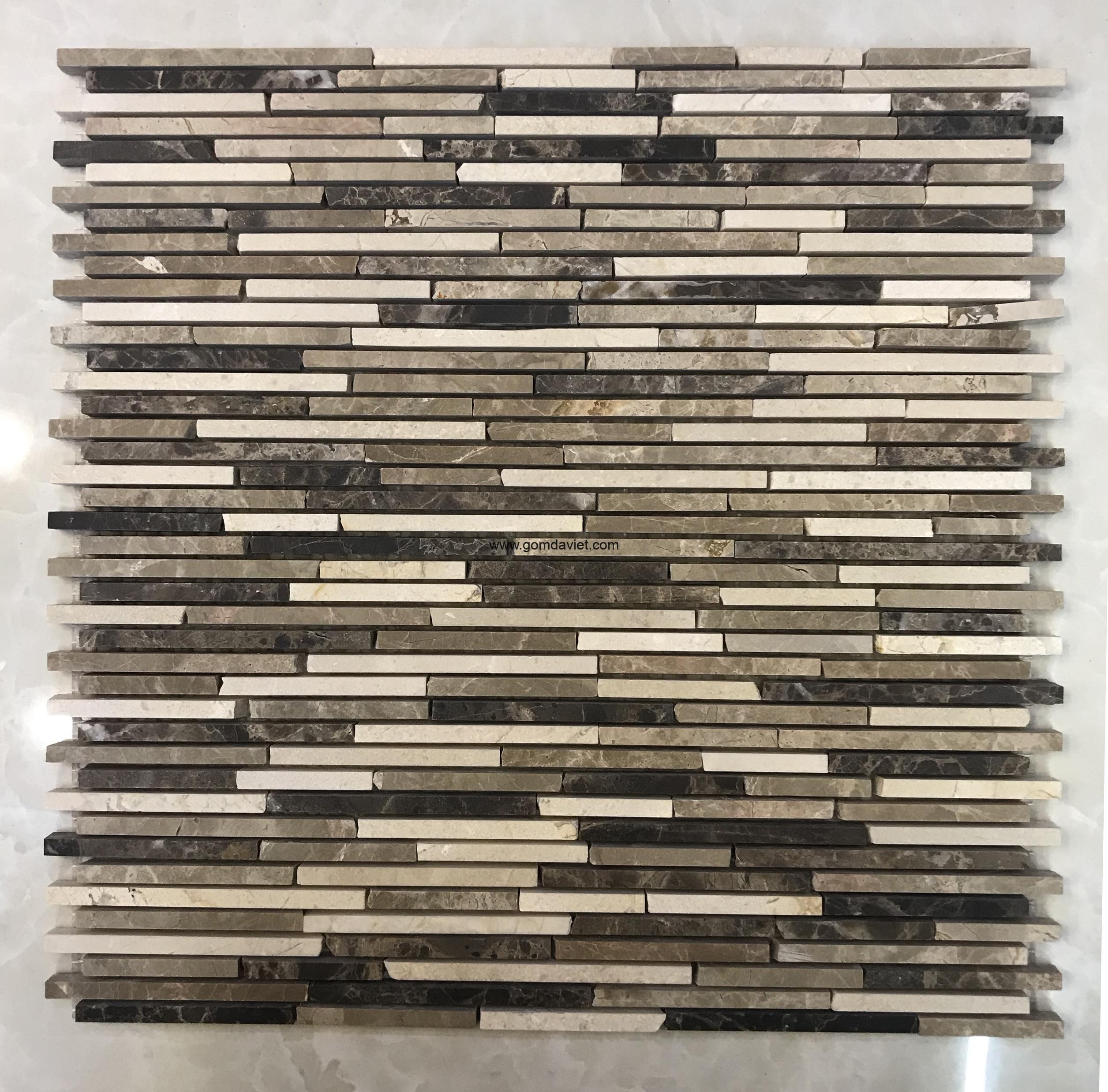 Mosaic đá chữ nhật 5
