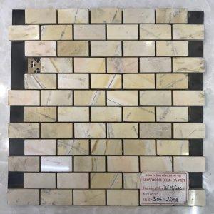 Mosaic đá chữ nhật 08