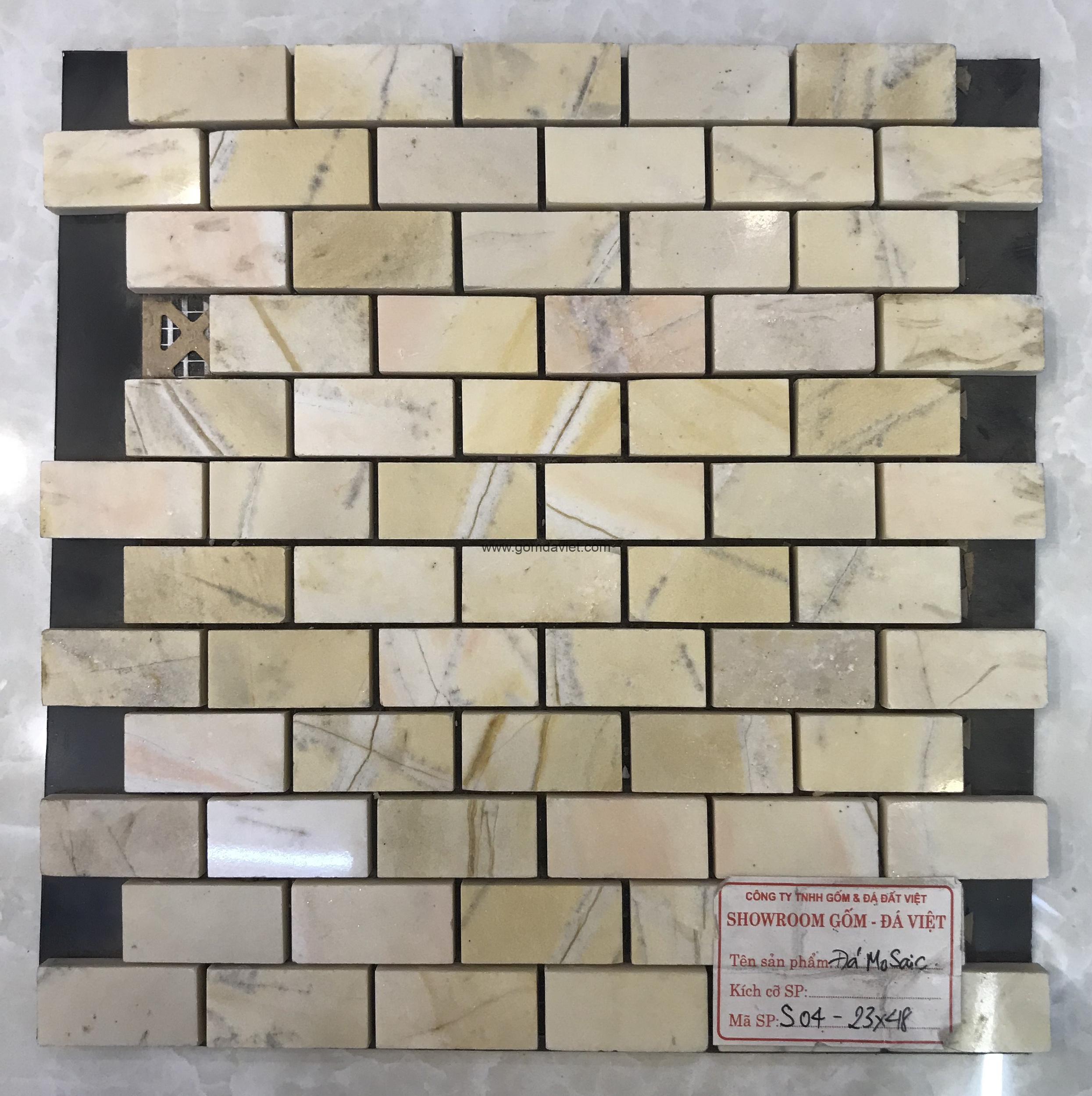 Mosaic đá chữ nhật 8