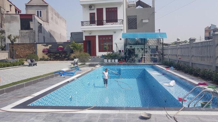 chi phí xây dựng hồ bơi gia đình
