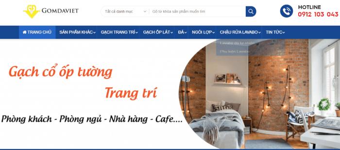 Gạch ốp tường Gốm Đá Việt