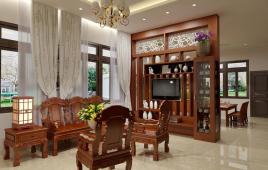 04 chất liệu làm vách ngăn phòng khách và bếp đẹp sang trọng