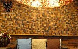 Gạch mosaic gỗ – Vẻ đẹp vượt thời gian của tường nhà