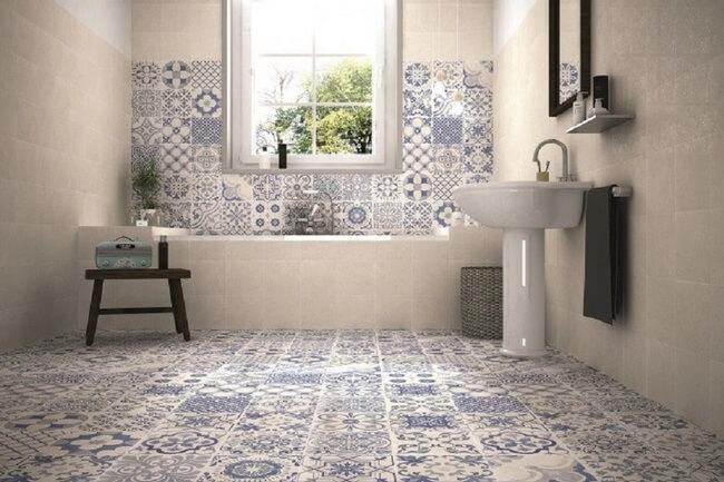 Gạch bông lát nền phòng tắm