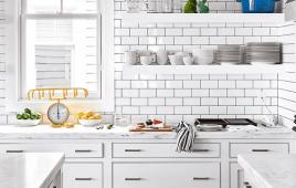 Cách phối gạch thẻ ốp tường bếp đẹp, hiện đại, hợp phong thủy