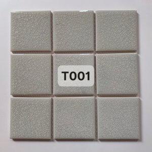 Gạch mosaic men rạn đơn màu 100×100 26