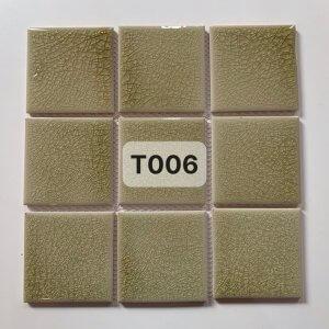 Gạch mosaic men rạn đơn màu 100×100 28