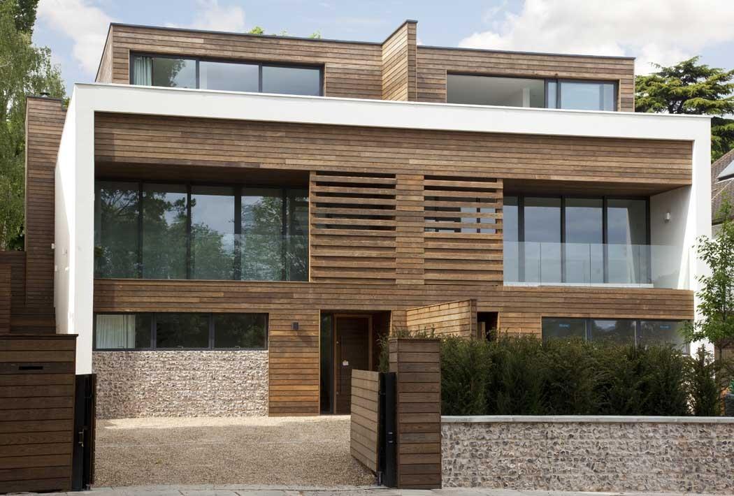 Gạch thẻ gỗ lát mặt tiền cho căn nhà