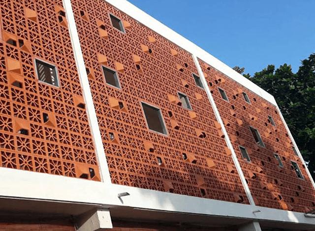 Kiến trúc gạch thông gió đất nung